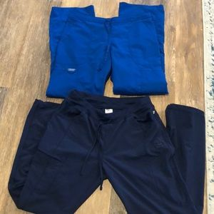 Set of 2 scrub pants.